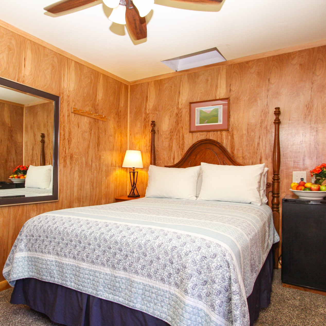 basic guest room at the woods cottages & cabins at the russian river in guerneville